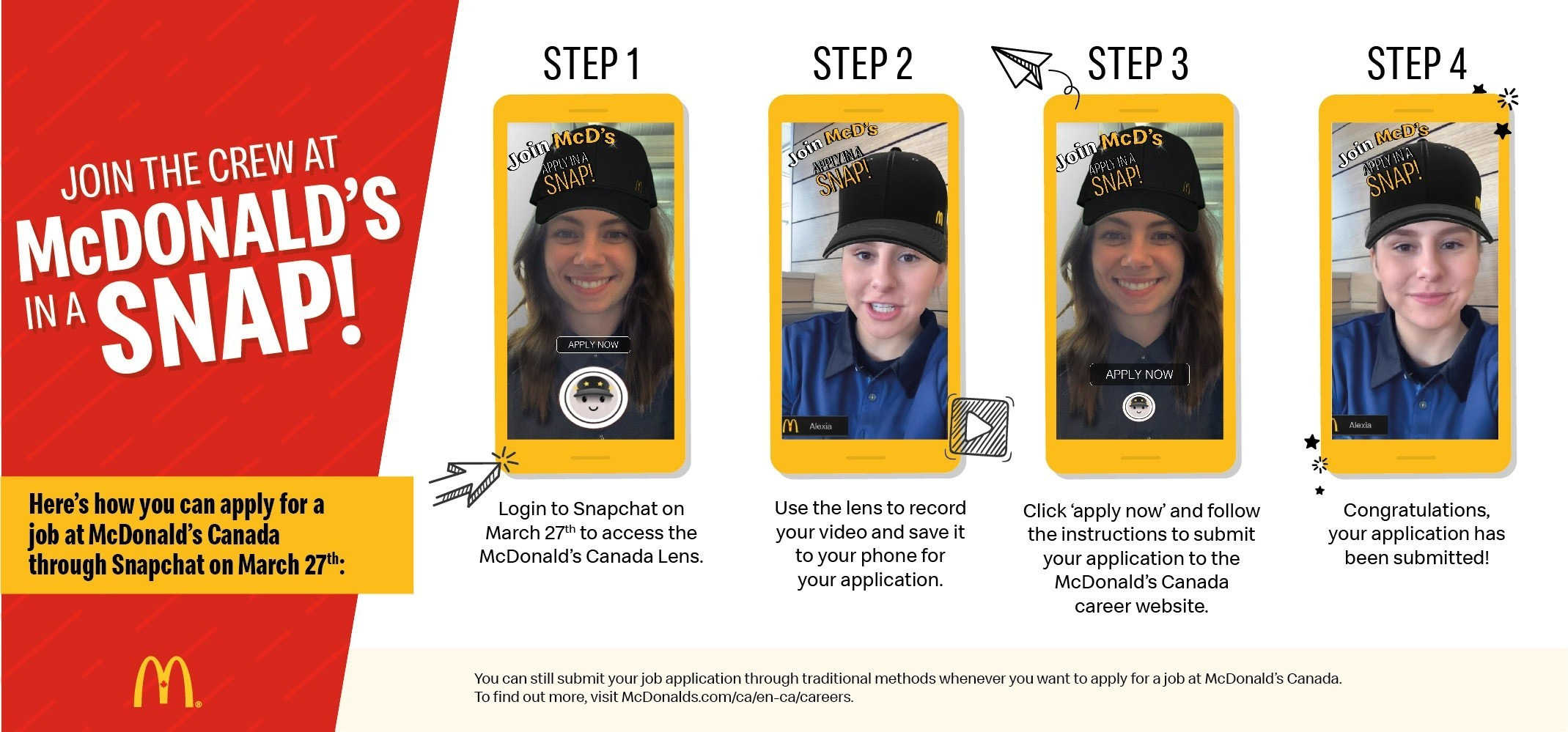McDonald's using Snapchat to hire workers